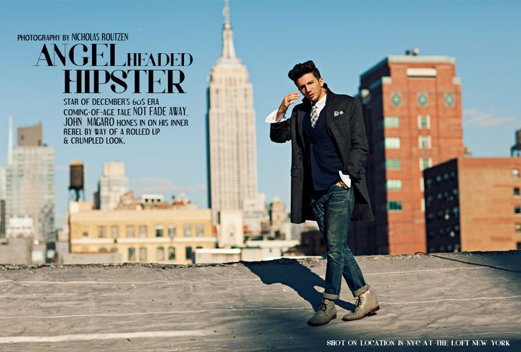 Men's Winter Fashion 2012 featuring actor John Magaro - Filler Magazine