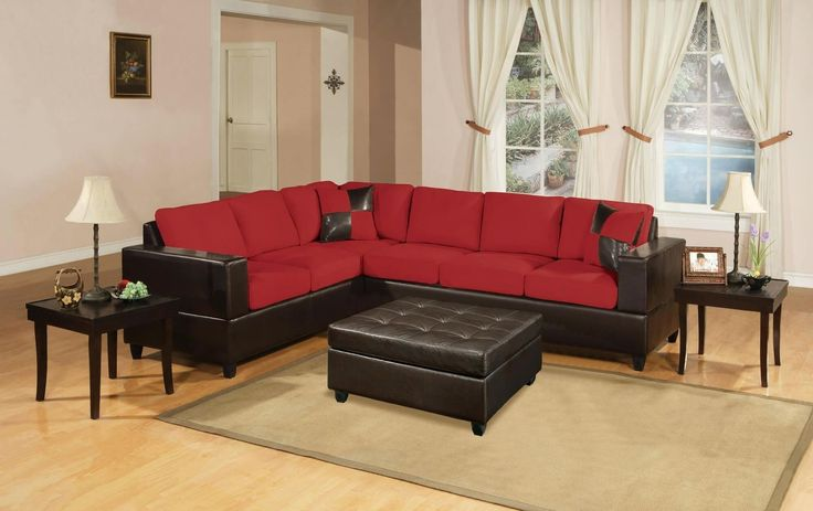 Old Fashioned Red Leather Sofa