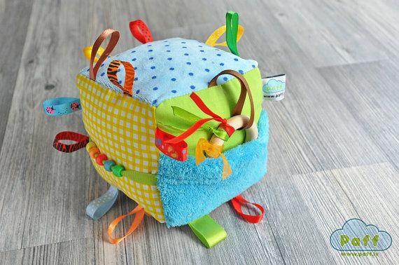 Tissu doux bébé, développer l'activité Cube hochet jouet