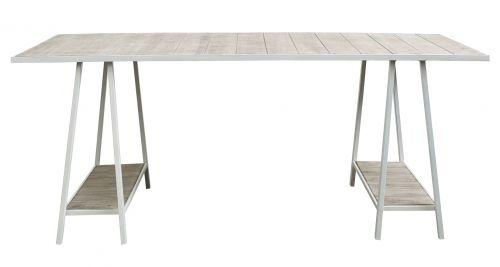 Matbord - Vit metall och trä i gruppen Bord / Matbord hos Reforma Sthlm  (7069)
