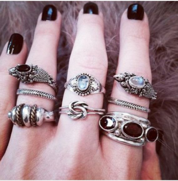 jewels pretty ring shoes jacket girl girly grunge hipster lace leather pastel white dress high heels black nails nail varnish girly grunge hipster bikini lace dress topshop pastel goth nail polish makeup rings stone
