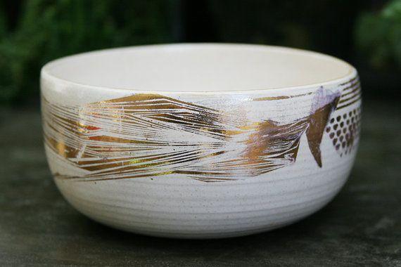 Ceramic Bowl. Stoneware Serving Bowl. Dipping Bowl. Dessert