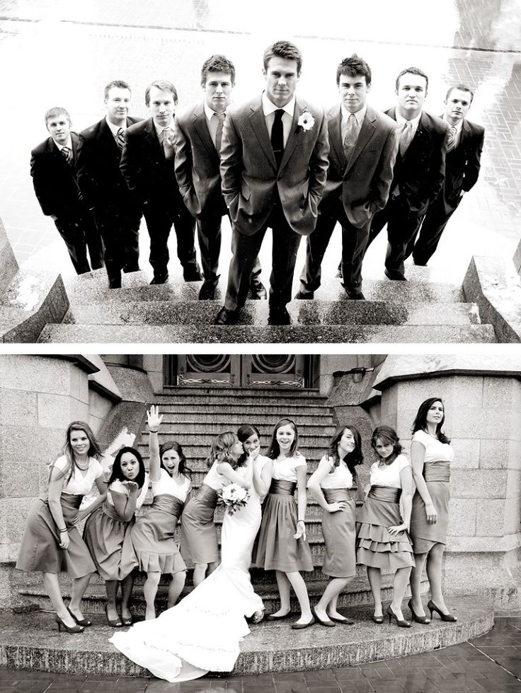 Never thought of photographing the groomsmen from the other direction on the stairs.