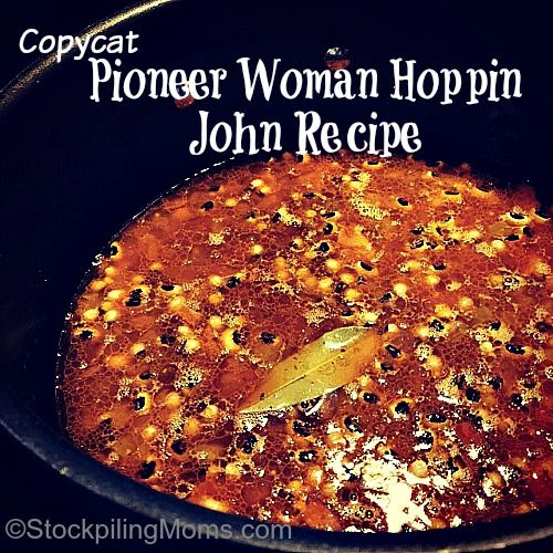 Copycat Pioneer Woman Hoppin John Recipe is full such great flavor and taste! My family and I could not believe how good this simple dish was yesterday.