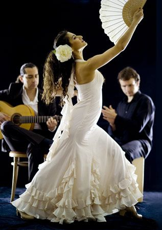 the energetic pulse of flamenco guitar rhythms and enigmatic hand clapping drives the dancer to express. www.onelive.cc