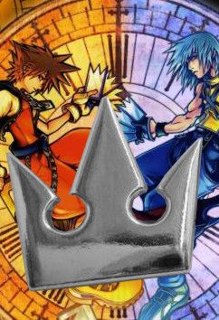 Kingdom Hearts II 2 Sterling Silver Sora Crown Charm Pendant dream drop distance RE:CODED chain of memories. $39.99, via Etsy.