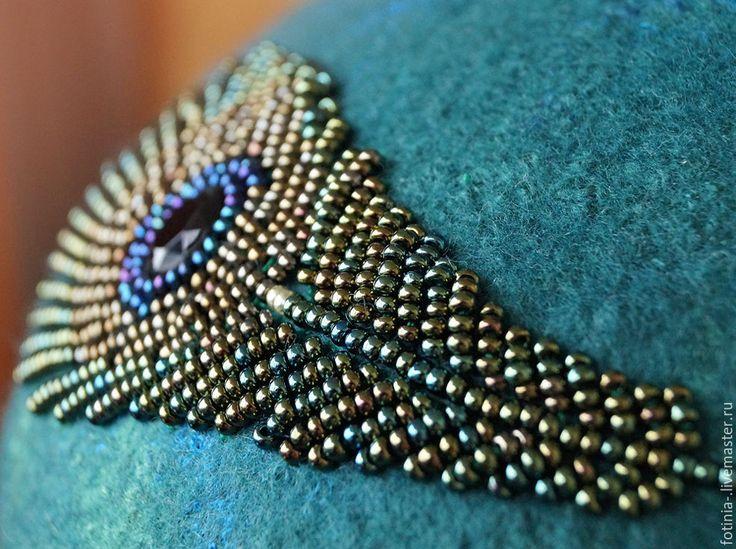 Купить шапка валяная шапка войлочная шапка шерстяная ПЕРЫШКО - морская волна, рисунок