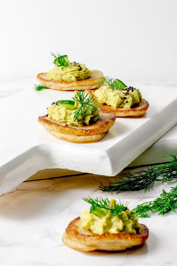 Vegan Blini with Avocado Hummus | VEGETARIAN DEPARTMENT