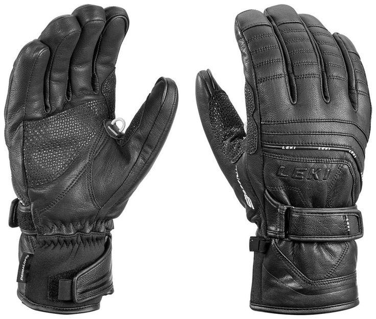 Leki Aspen S Touch Gloves, 8.5/Medium, Black