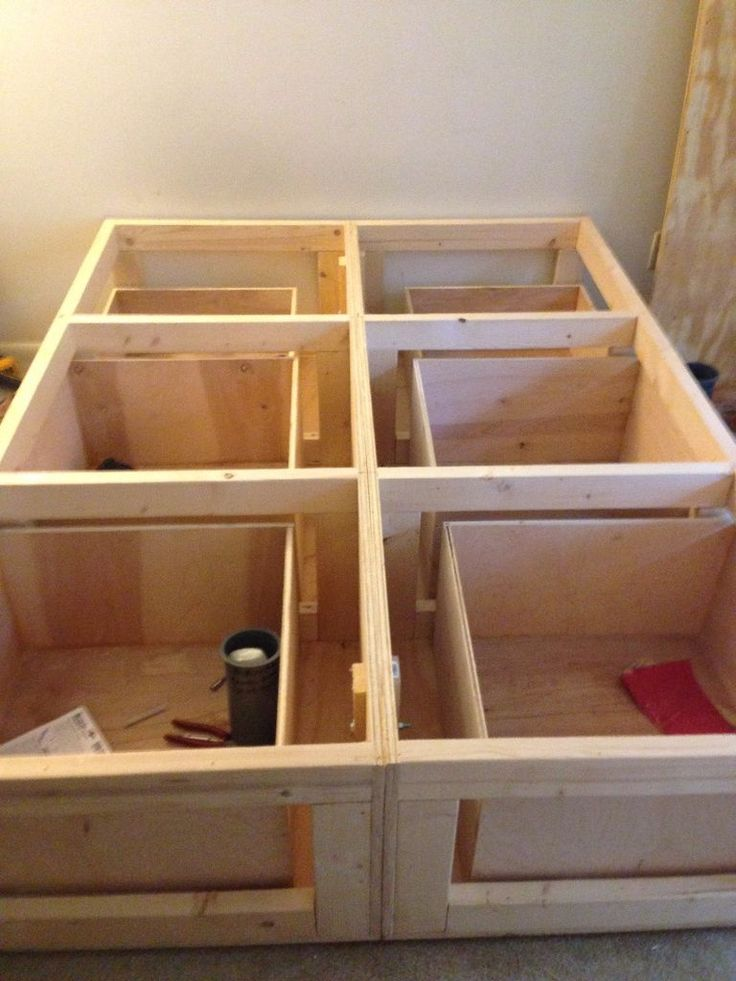 [ Bed Frame With Storage How Build Platform Diy Drawers ...