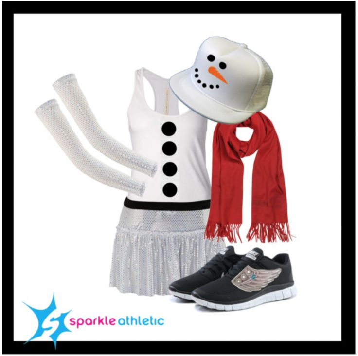 Snowman Running Costume - complete with Sparkle Athletic skirt, sleeves and Shwings! | Running | Race Costume | Sparkle Athletic | #TeamSparkle | Christmas | Athletic Costume