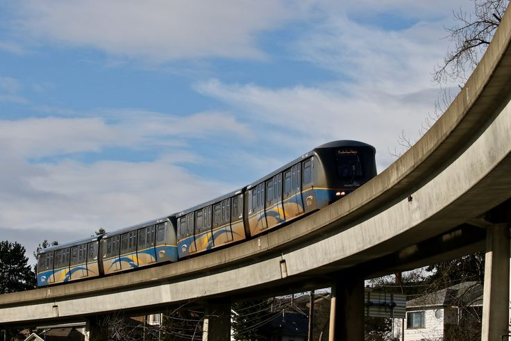 Skytrain in New Westminster, B.C. Click image to enlarge.