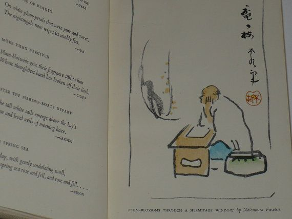 Book Japanese Haiku  Paintings A Net of Fireflies by booksvintage, $18.00