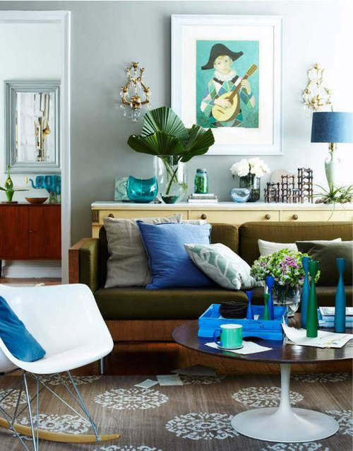 Great Eclectic Authentic And Greens Blues Decor