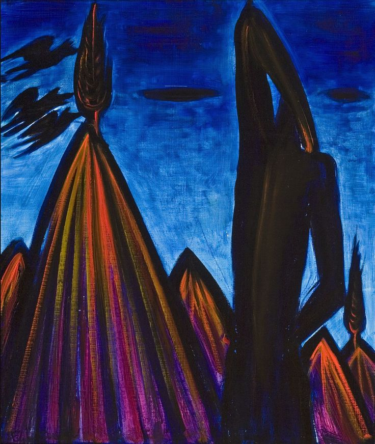 El Kazovszkij: Kék hegyi Vénusz / Venus from the Blue Mountain - é.n. / undated - 68x55 cm - olaj, akril, farost - oil and acryl on wallboard