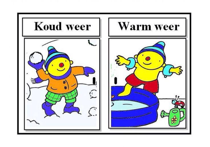 Oef wat warm! - Boeken/versjes - UK&Puk. Kleding koud weer/warm weer
