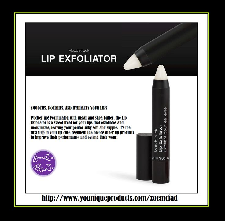 SMOOTHS, POLISHES, AND HYDRATES YOUR LIPS Pucker up! Formulated with sugar and shea butter, the Lip Exfoliator is a sweet treat for your lips that exfoliates and moisturizes, leaving your pouter silky soft and supple. It's the first step in your lip care regimen! Use before other lip products to improve their performance and extend their wear. Coming Soon #younique