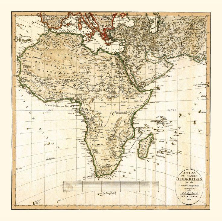 Africa's Inland Still to Be Explored. Antique map of Africa, 1803. #map #africa #antique #vintage #old #handmadepaper #historical #afrique #afrika #story #interiordesign #design #wallart #walldecor #interiordecor