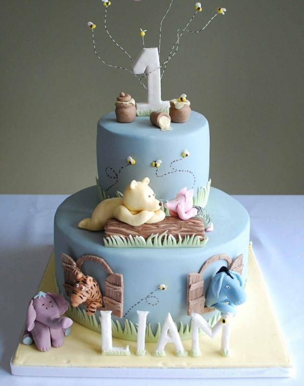 Geburtstagstorte Jungen Pooh Bar Zuckerfiguren Ideen Geburtstagstorte Baby Kuchen Torte 1 Geburtstag