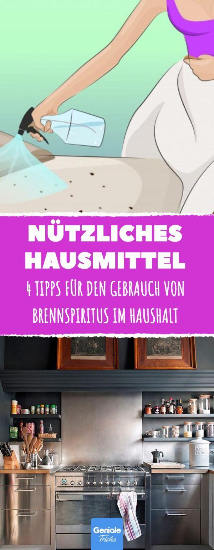 4 Tipps für den Gebrauch von Brennspiritus im Haushalt #hausmittel #haushalt #b…