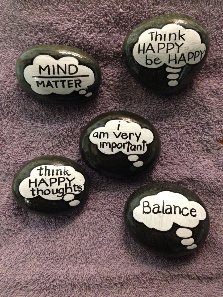 Word bubble hand painted stones. SNS DESIGNS