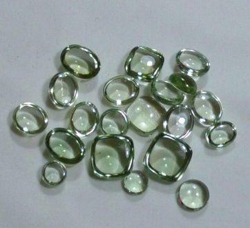 Cabochon Mixed Shape Brazilian Mines Green Amethyst Gemstone Lot