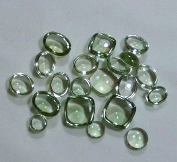 Cabochon Mixed Shape Brazilian Mines Green Amethyst Gemstone Lot