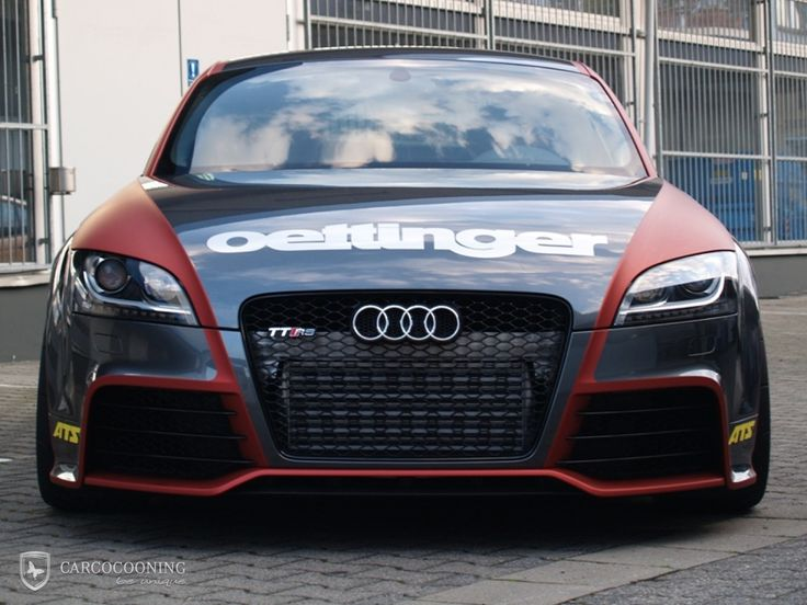 Wauw Audi Tt Car Wrap Matte Dark Red And Glossy