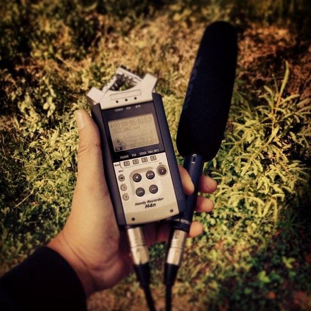 Collecting sound. #bildmakarnamedia #filmljud