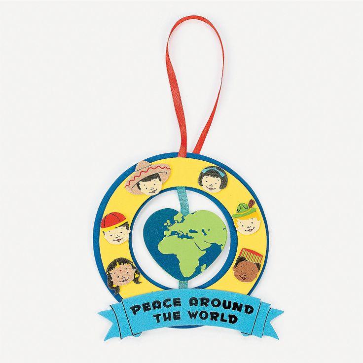 """Peace Around The World"" Ornament Craft Kit - OrientalTrading.com"