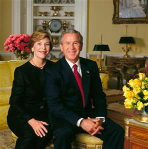 President George W. Bush, 43rd President of the United States and Laura Bush…