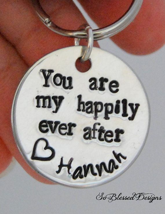 Happily Ever After GROOM Keychain From Bride To Groom My On Our Wedding Day