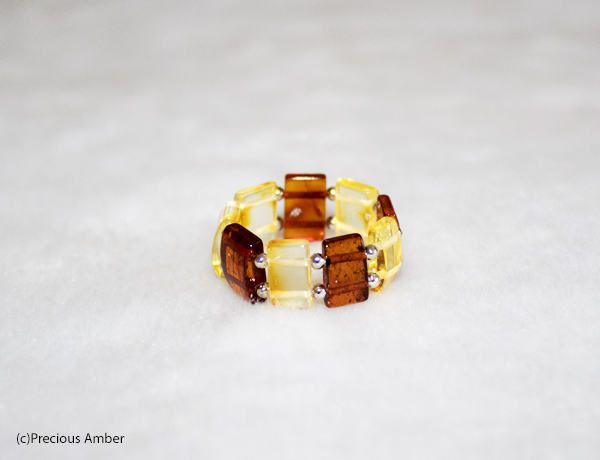 Baltic amber ring natural amber elastic ring by PreciousAmber on Etsy