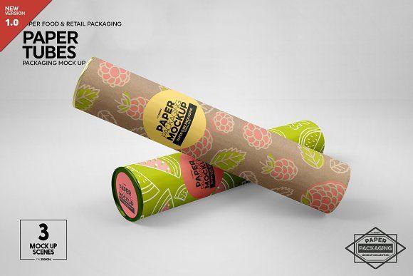 Download Paper Tube Packaging Mockup Packaging Mockup Design Mockup Free Free Packaging Mockup