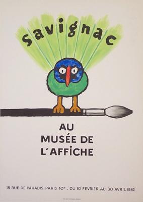 Galerie Montmartre - Au Musee de l'Affiche (1982) by Raymond Savignac