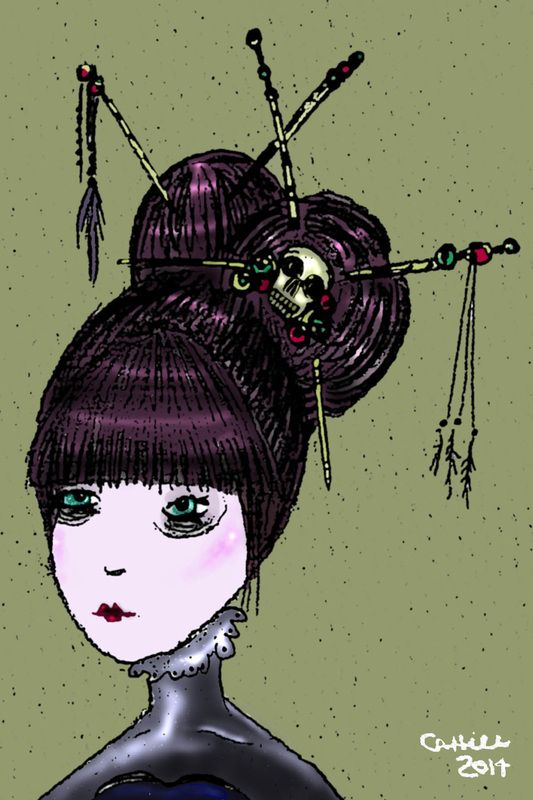 "Michelle Cahill illustrative series ""The Dolls"" @ www.chinadahlia-arts.com"