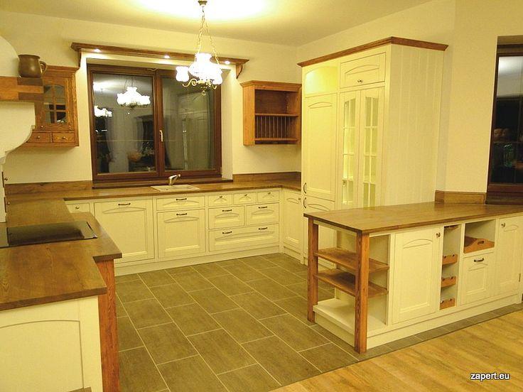 Stylowe Meble Do Salonu W Stylu Prowansalskim Kuchnie W   # Kuchnie Drewniane Rustykalne