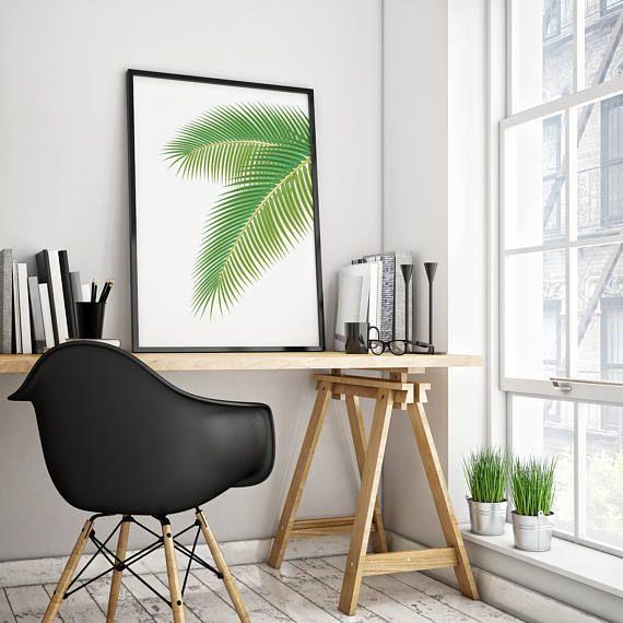 Palm Art Print, Palm Leaf Print, Tropical Leaf Print, Printable Palm Leaf, Palm Tree Art, Minimalist Art, Modern Wall Print #tropicalprint #tropicaldecor #tropicalprintsart