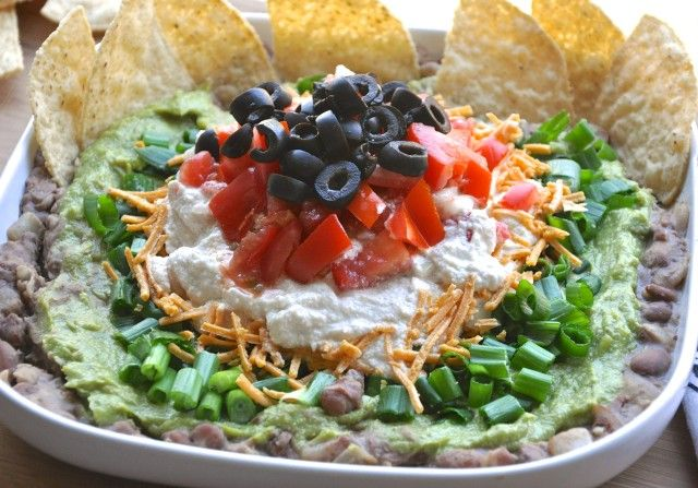 Seven Layer Dip with Cashew Sour Cream