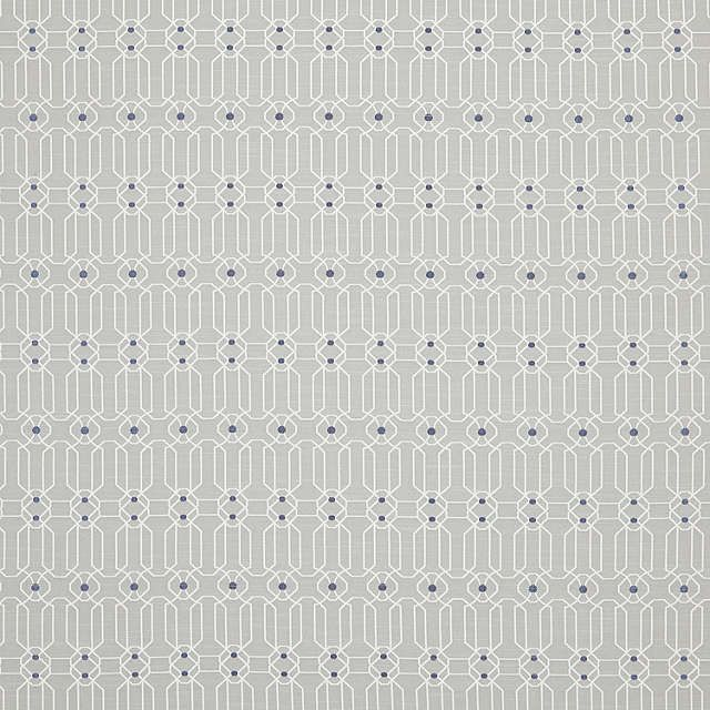 BuyGenevieve Bennett for John Lewis Fretwork Fabric, Silver Online at johnlewis.com £25 per metre