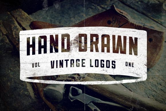 9 Hand Drawn Vintage Logos by Vintage Design Co. on Creative Market