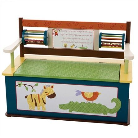 Jungle Jingle Bench Seat with Storage - This would be totally cute in Axyl and Violets room!!