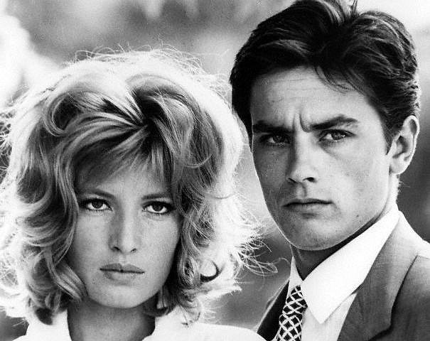 "Monica Vitti and Alain Delon in L'eclisse (""The Eclipse"") a 1962 film directed by Michelangelo Antonioni"