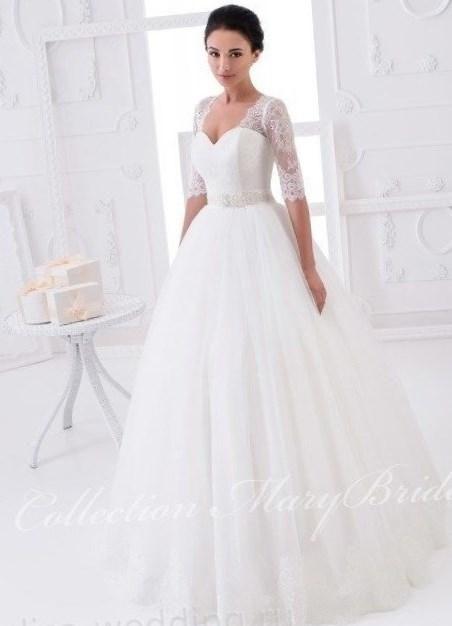 Свадебное платье с пышными рукавами - http://1svadebnoeplate.ru/svadebnoe-plate-s-pyshnymi-rukavami-3878/ #свадьба #платье #свадебноеплатье #торжество #невеста