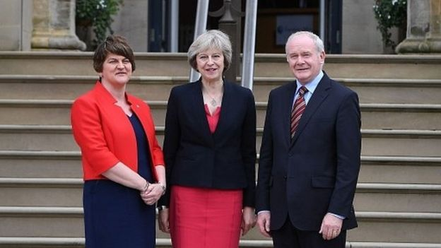 British Prime Minister Theresa May visited Northern Ireland on July 25 to meet with first and deputy first ministers, Arlene Foster and Martin McGuinness. They discussed the impact of the Brexit vote.