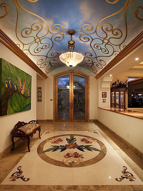 44 best luxury foyers images on pinterest foyer design for Foyer ceiling design