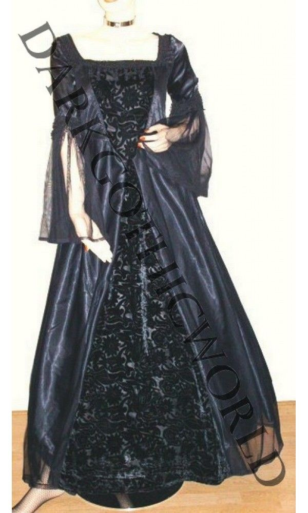 Middeleeuwse jurk uit satijn NEBULA 6151