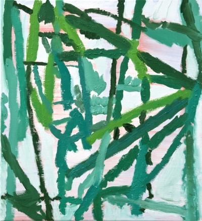 Wannes Lecompte, ' 't geeft nie ', Dec. 2009, 100/95 cm, oil on canva