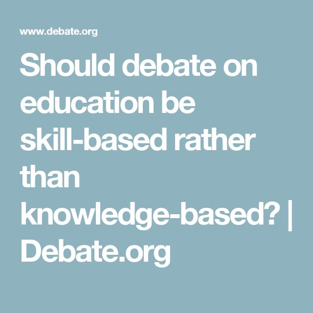 education should be knowledge based