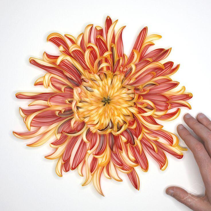 Открытка хризантема своими руками, ссср